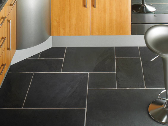 Dark Grey Slate Flooring