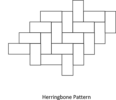 Herringbone Tile Pattern for Slate Tile Flooring