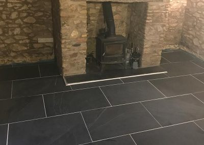 Living Room Traditional Slate Floor