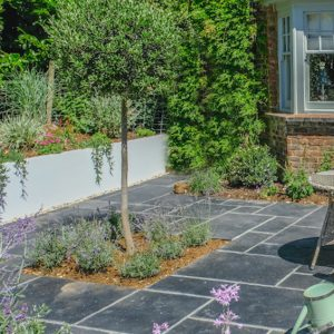 Dark Grey Slate Patio